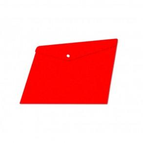 Φάκελος κουμπί Α4 Typotrast Κόκκινος