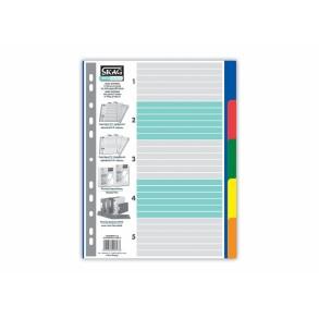 Διαχωριστικά Ευρετήρια Α4 Χρωματιστά P.P. 5 θέματα