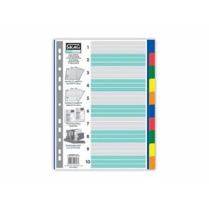 Διαχωριστικά Ευρετήρια Α4 P.P. χρωματιστά 10 θέματα