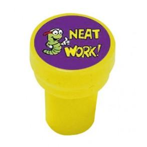 """Σφραγίδα Δασκάλου Στρογγυλή Αγγλικά """" NEAT WORK"""""""