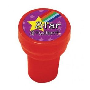 """Σφραγίδα Δασκάλου Στρογγυλή Αγγλικά """" Star Student"""""""