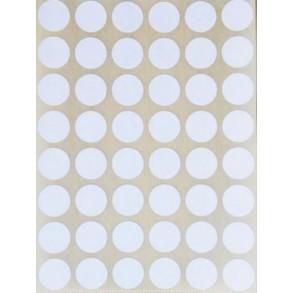 Ετικέτες αυτοκόλλητες στρογγυλές λευκές 15mm Stef-Labels