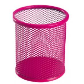 Μολυβοθήκη Στρογγυλή Μεταλλική Deli Ροζ