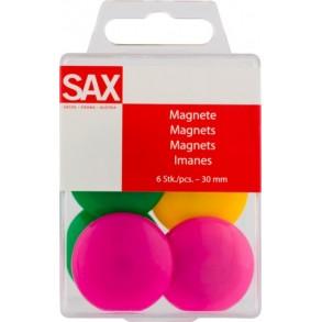 Μαγνητάκια Πίνακα Sax Χρωματιστά 3cm 6τμχ