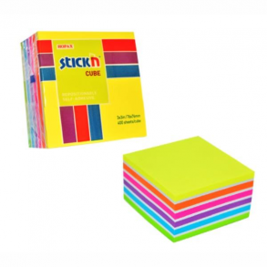 Χαρτάκια Σημειώσεων Stick'N Κύβος Ουράνιο Τόξο 76χ76 400Φ