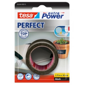 Tesa extra Power  2.75 m x 38 mm Mαύρη