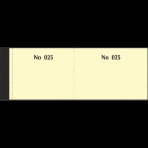 Μπλοκ Ταμείου - Λαχνοί 1-100 Κίτρινοι Typotrast