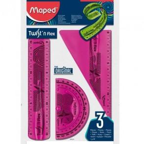 Σετ Οργάνων Γεωμετρίας  Maped Twist'n Flex 15cm
