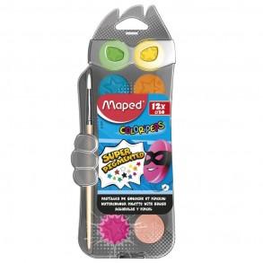 Νερομπογιές Maped σετ 12 χρώματων 30mm