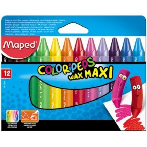 Κηρομπογιές Maped  Color'Peps Jumbo 12 Χρωμάτων