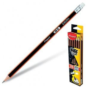 Μολύβι Maprd Black'Peps με Γόμα 2Β