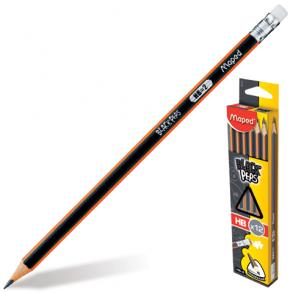 Μολύβι Maprd Black'Peps με Γόμα HΒ