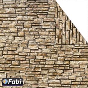 Fabi Χαρτόνι με μοτίβο 50χ70 πέτρινος τοίχος