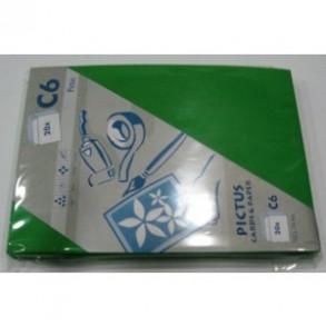 Φάκελα πολυτελείας Pictus Καρρέ C6 162 x 114  πράσινο