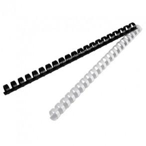 Σπιράλ βιβλιοδεσίας πλαστικά 14mm Λευκό-Μαύρο
