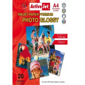 Φωτογραφικό Χαρτί Active Jet Glossy  230gr