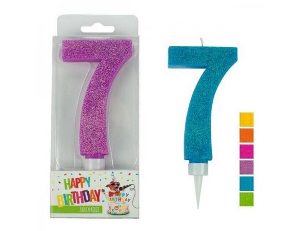 Κερί Γενεθλίων Trend Glitter Maxi N. 7