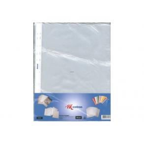 Ζελατίνες A4 με 11 τρύπες άνοιγμα πάνω 100 τεμ. METRON