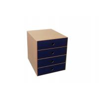 Συρταριέρα οικολογική Α4 μπλε 27x35x31.5 cm