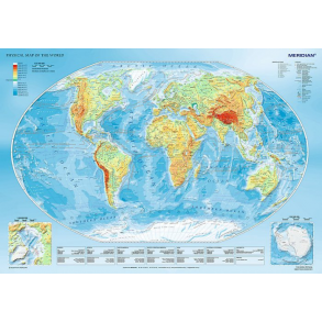 Παζλ Trefl:Physical map of the world 1000 pcs 10463