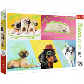 Παζλ Trefl:Neon Color Line: Cool Dogs 1000pcs 10578