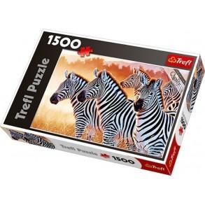 Παζλ Trefl:Zebras 1500 pcs 26129