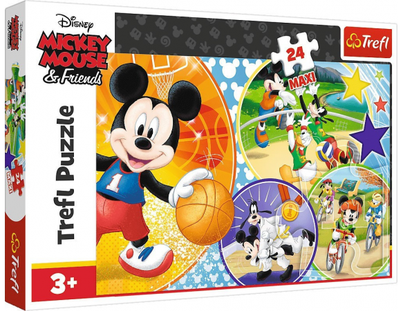 Παζλ Trefl:Mickey Time For Sports 24pcs Maxi 14291