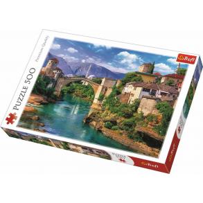 Παζλ Trefl:Old Bridge in Mostar, Bosnia and Herzegovina 500pcs 37333