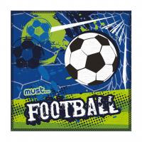 Πετσέτα Προσώπου/Χεριών Must 30Χ30cm σε Τσαντάκι PVC Ποδόσφαιρο
