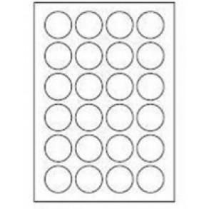 Ετικέτες Sorex αυτοκόλλητες στρογγυλές 40mm