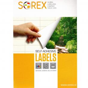 Ετικέττες Sorex αυτοκόλλητες 210x297mm Α4