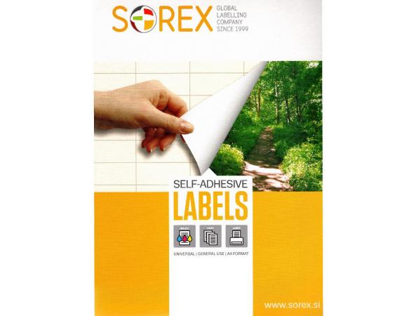 Ετικέτες Sorex αυτοκόλλητες  38x21.2 mm A4