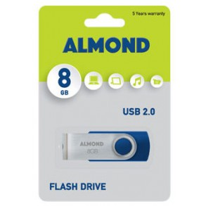 Almond Flash Drive USB 8GB Μπλε