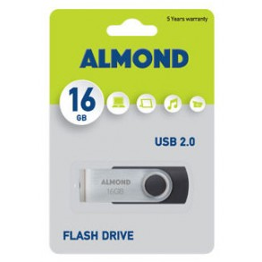 Almond Flash Drive USB 16GB Μαύρο