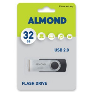 Almond Flash Drive USB 32GB Μαύρο