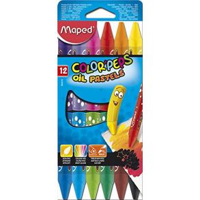 Λαδοπαστέλ 12 χρωμάτων Maped 864010